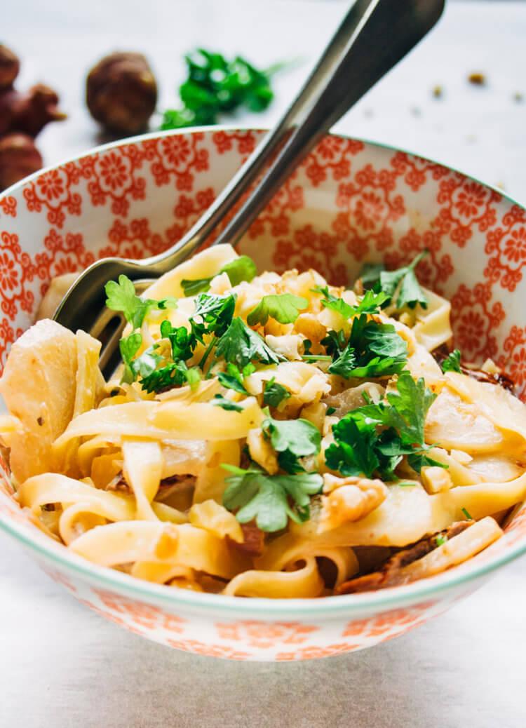 pasta met aardperen