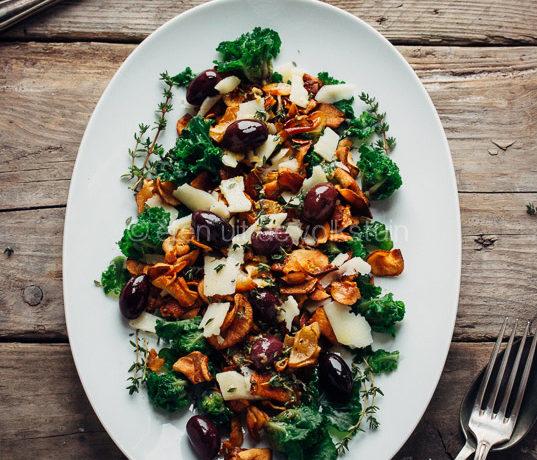 Salade met aardperen en spruitjes