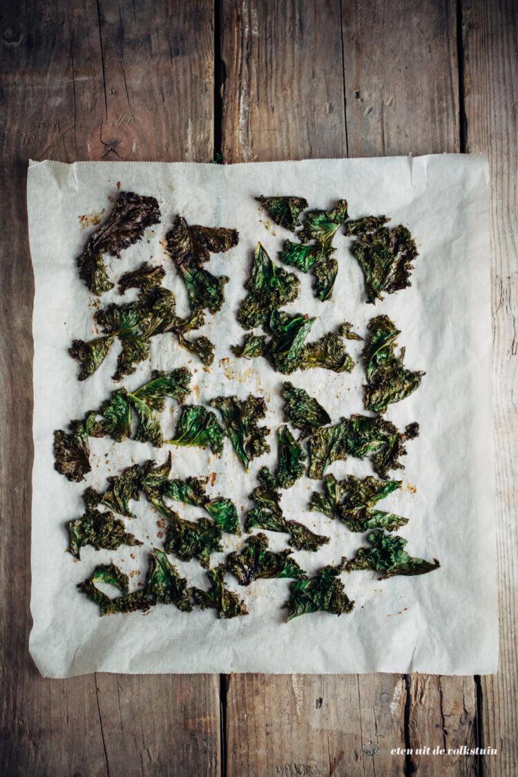 boerenkoolchips uit de oven