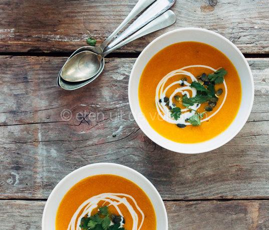 Wortelsoep met sinaasappel en rozemarijn