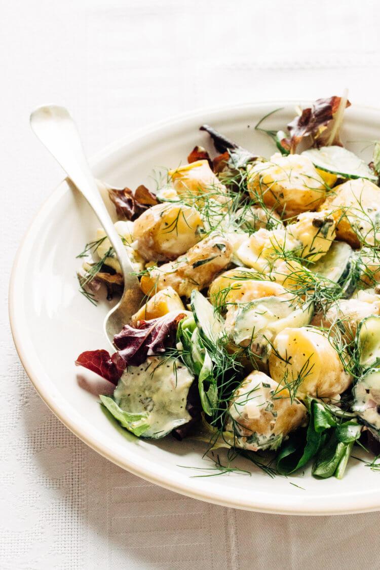 Aardappelsalade met dragon