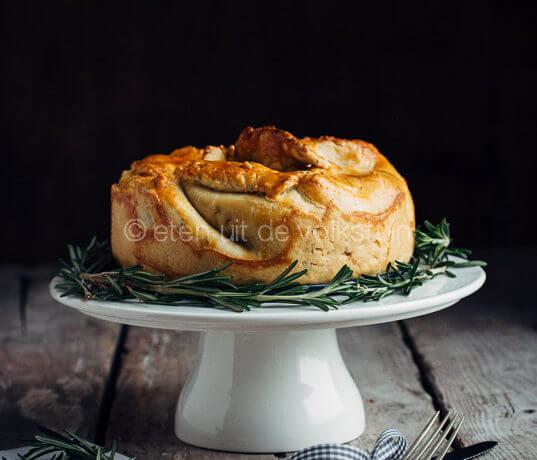 Hoofdgerecht kerst: groente pastei