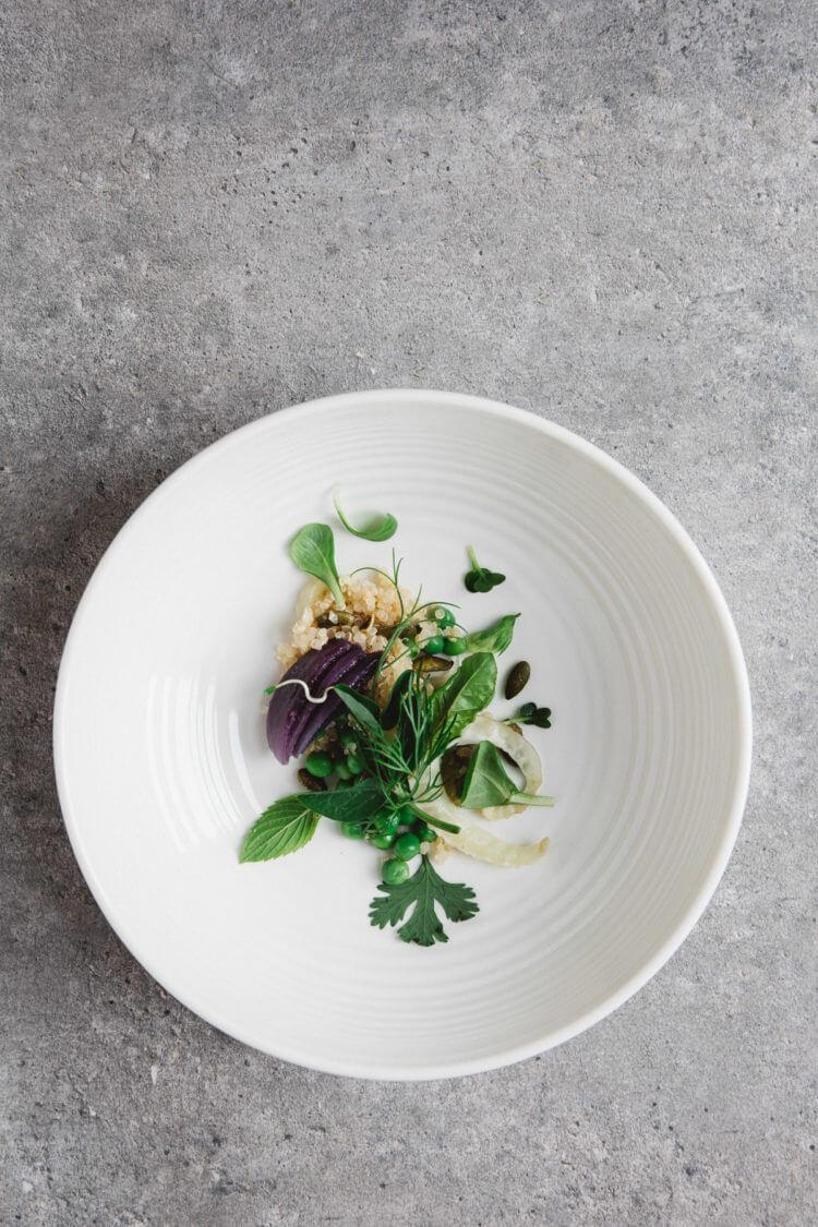 Salade met quinoa, venkel en kiemen