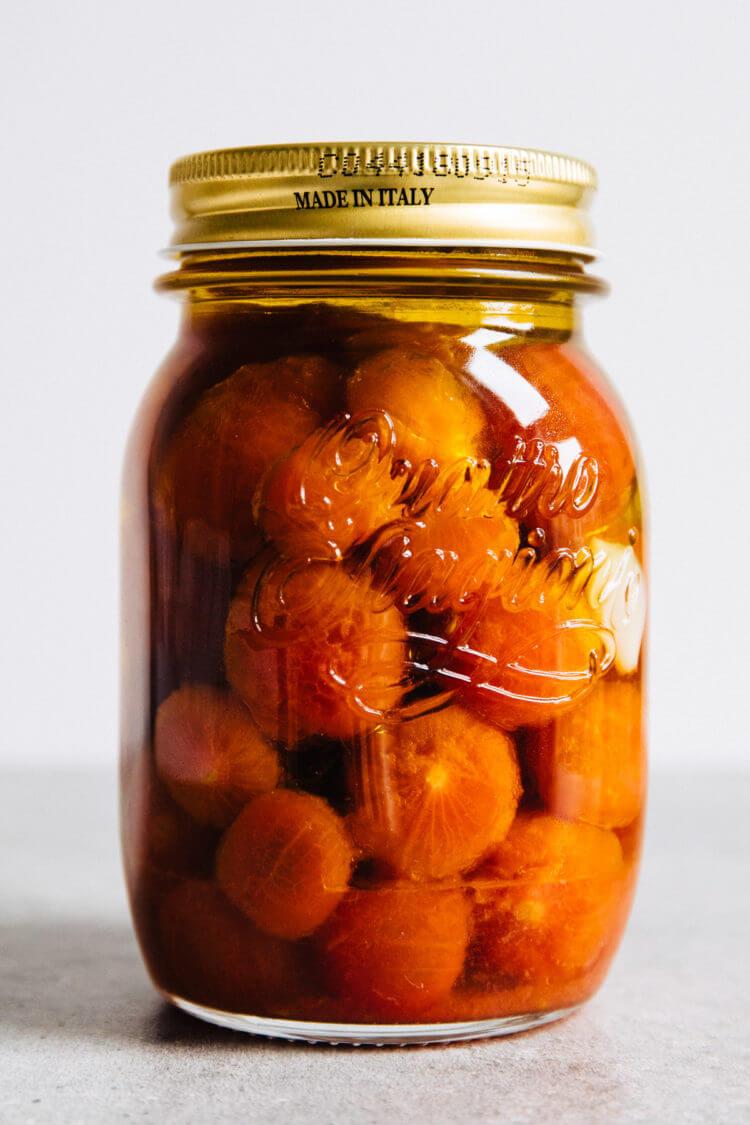 Cherry tomaten confit