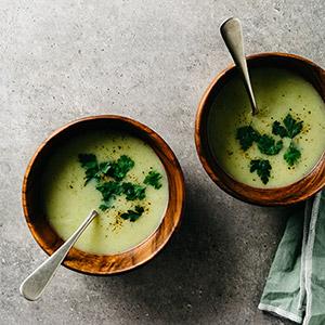 Aardappel ui soep