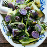 paarse aardappelsalade