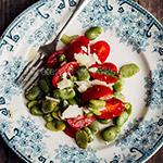 Tuinbonensalade met tomaten