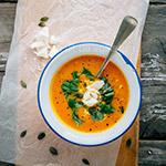 Wortel pompoen soep